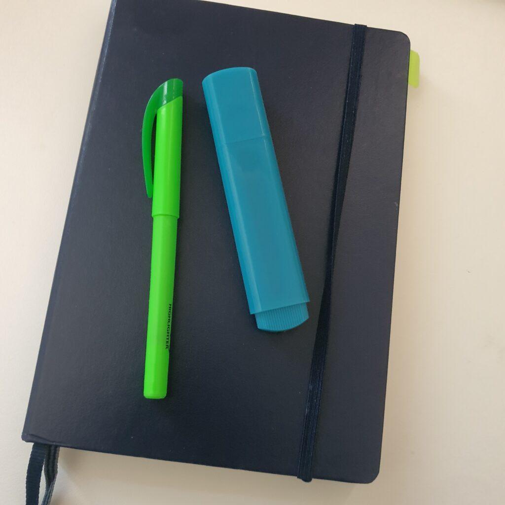 Journal mit 2 Stiften